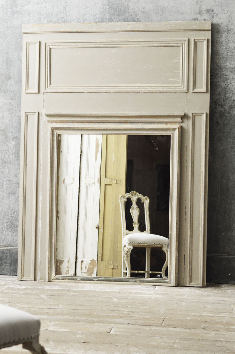 Large French 18th Century trumeau mirror