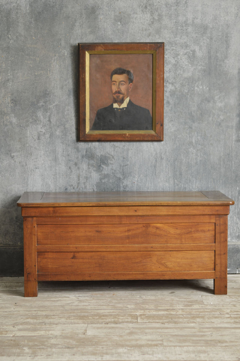 19TH CENTURY ELM COFFER