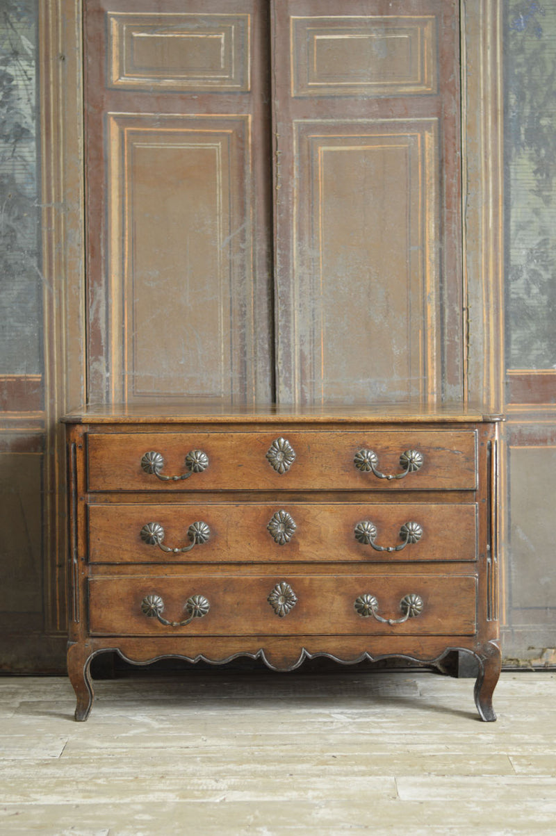FRENCH 18TH CENTURY PAINTED SERPENTINE COMMODE