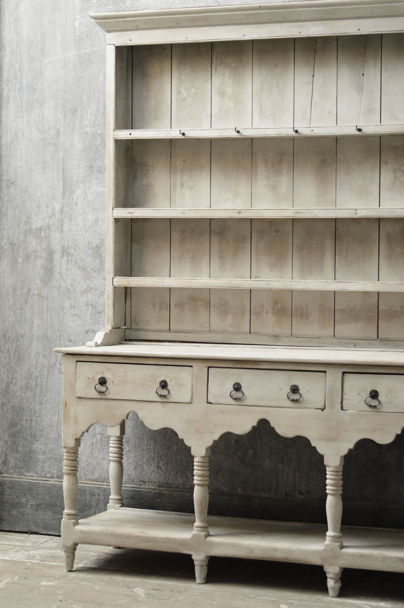 Early English 19th Century painted country dresser