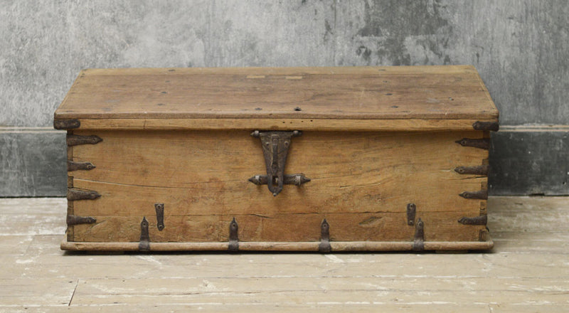 18th Century Anglo Indian teak trunk coffee table