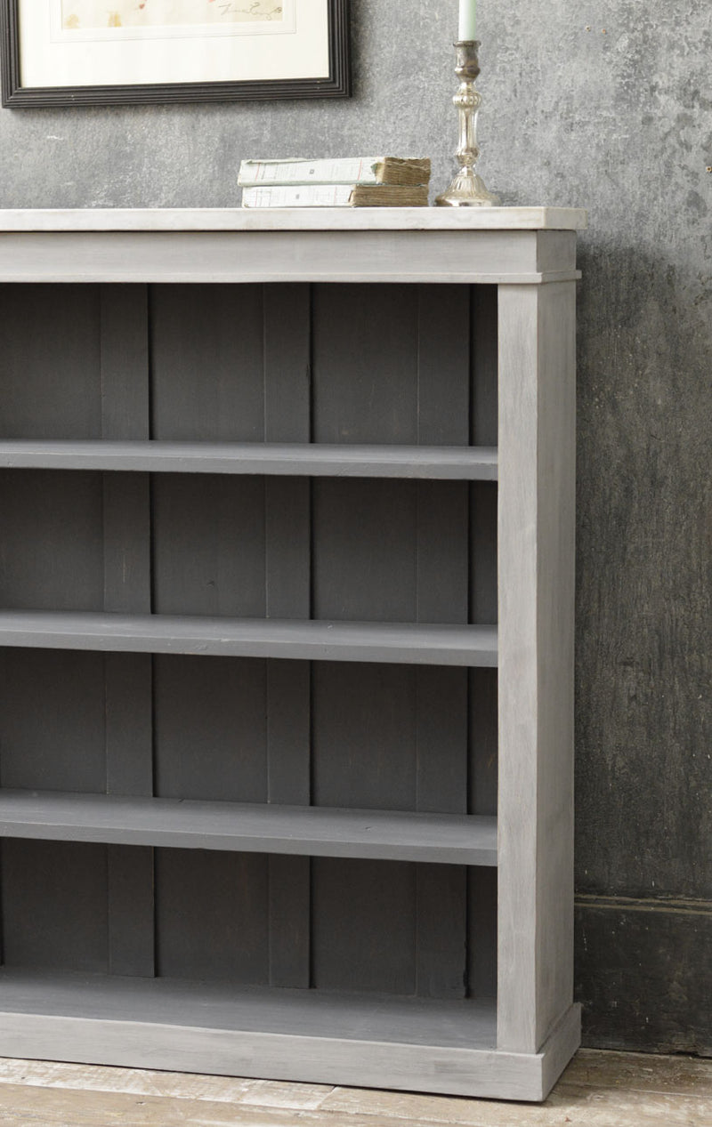An English painted bookcase