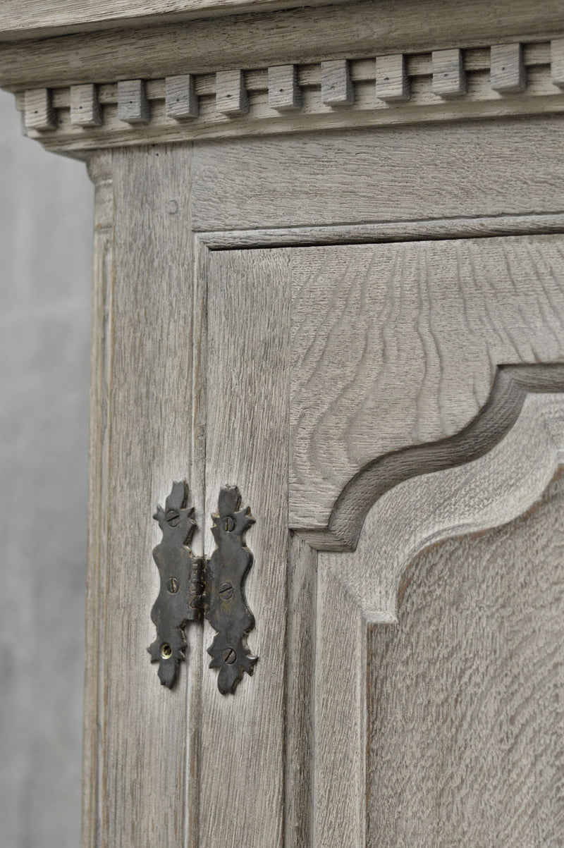 George II  painted oak livery cupboard