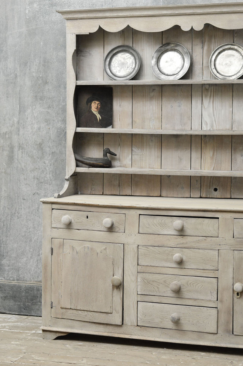English 18th Century painted country dresser