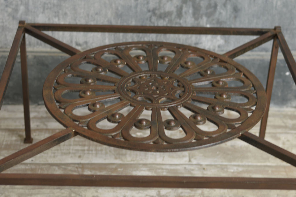 BLACKSMITH MADE IRON COFFEE TABLE.