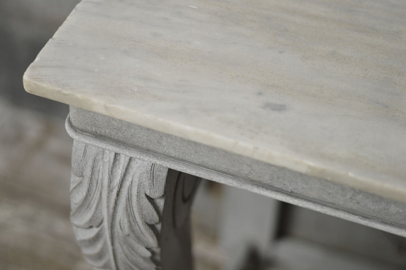 ENGLISH MARBLE TOP CONSOLE TABLE