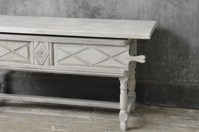 FRENCH 19TH CENTURY PAINTED TABLE / SERVER / CONSOLE