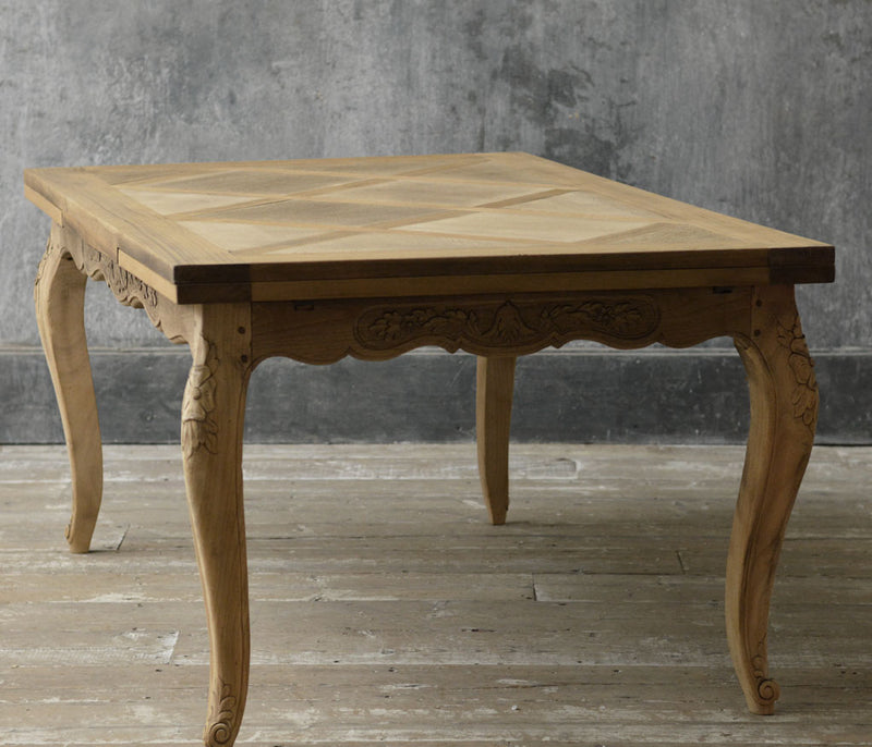 French 19th Century bleached oak dinning table