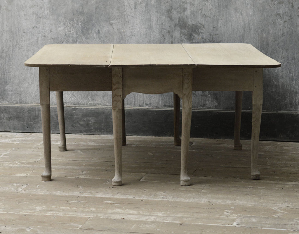 English Georgian square drop leaf table.