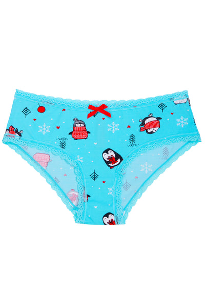 "*Limited Edition* Holiday Splendies Set including ""Happy Penguin Splendies"" No Thongs"