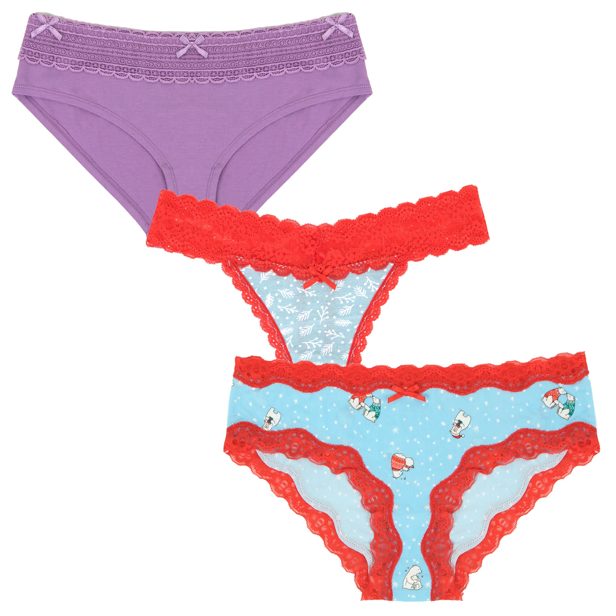 *Limited Edition* Holiday Splendies Set With Thong