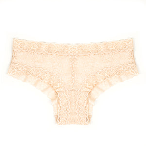 Nancy Nude Lace Cheeky