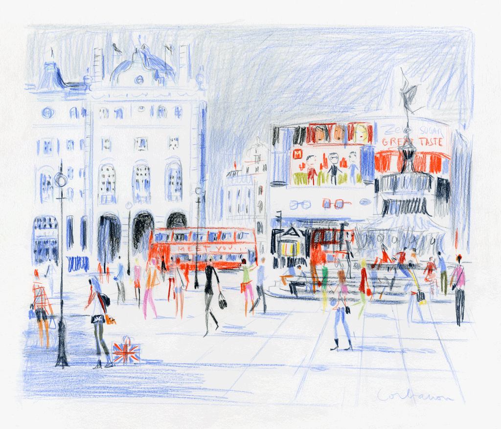 Piccadilly Circus in the Afternoon by Dominique Corbasson