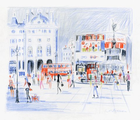 Piccadilly Circus in the Afternoon // Dominique Corbasson
