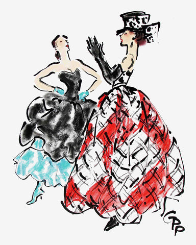 Isaac Mizrahi and Valentino show off // Gladys Perint Palmer