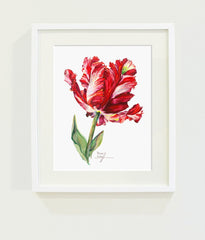 Red Estella Tulip // Page Lee Hufty