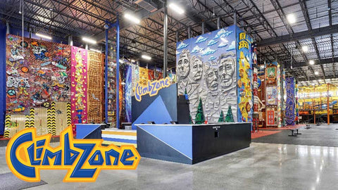 Image of ClimbZone - 90-Minute Package for Wall Climbing and SkyTrail for Two People