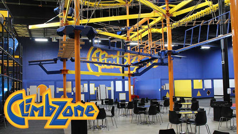 ClimbZone - 90-Minute Package for Wall Climbing and SkyTrail for Two People