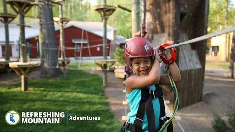 Refreshing Mountain Retreat & Adventure Center: 2 Ziplines + 22 Obstacles Bundle