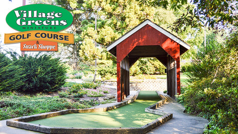 Village Greens Miniature Golf Course: Four Adult Tickets (Gold Course)
