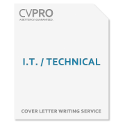 I.T. / Technical - Cover Letter Writing Service