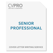Senior Professional - Cover Letter Writing Service