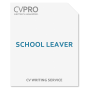School Leaver - CV Writing Service