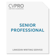 Senior Professional - LinkedIn Profile Writing Service