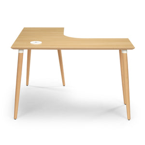 "<b>Light Ash Corner Desk - 48"" W x 48"" D</b><br><i>Freya Collection</i>"