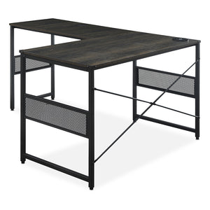 "<b>Weathered Oak 48""W L-Desk with Universal Return</b><br><i>Axle Collection</i>"