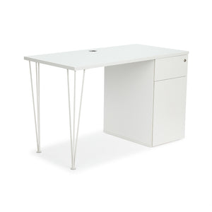 "<b>Hairpin Leg and Pedestal Desk - 60"" W</b><br><i>Maker Collection</i>"