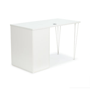 "<b>Hairpin Leg and Pedestal Desk - 48"" W</b><br><i>Maker Collection</i>"