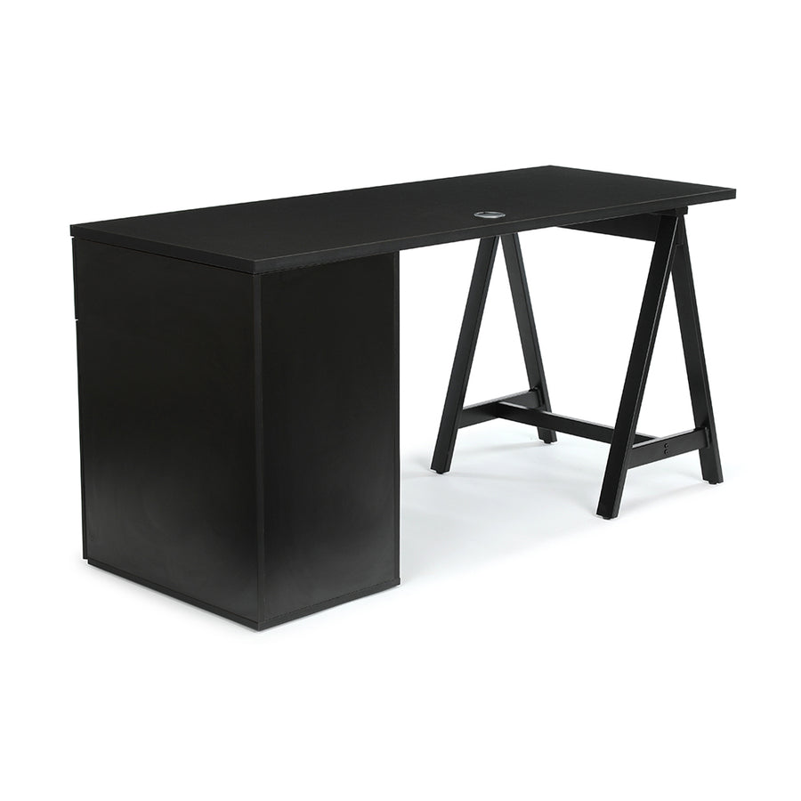 "<b>Sawhorse Leg and Pedestal Desk - 60"" W</b><br><i>Maker Collection</i>"