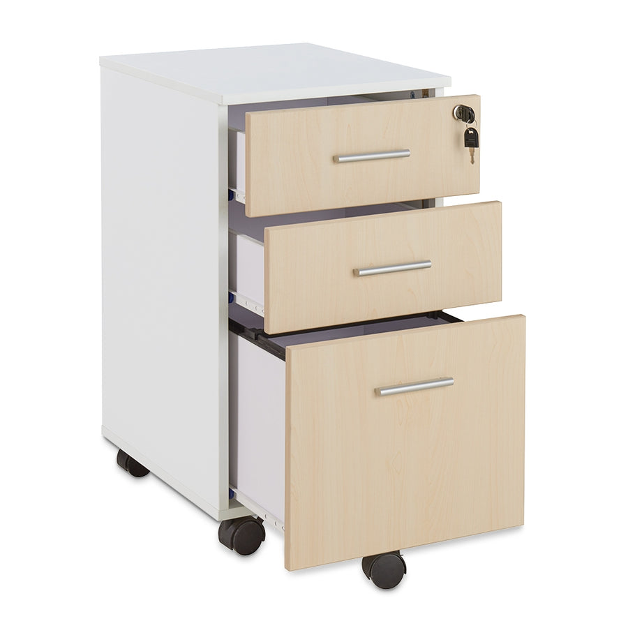 <b>Three-Drawer Mobile File Pedestal</b><br><i>Brite Collection</i>