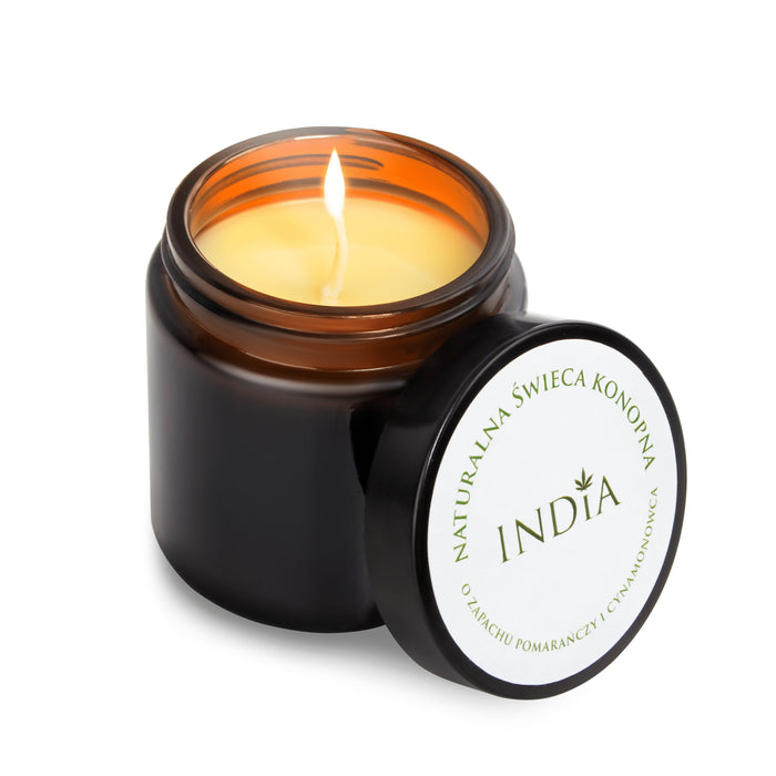Aromatic Orange and Cinnamon Hemp Massage Candles - Inspired Life CBD