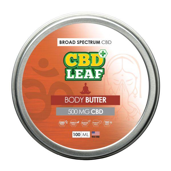 CBD Leaf - Body Butter - 500mg -100ml - Inspired Life CBD