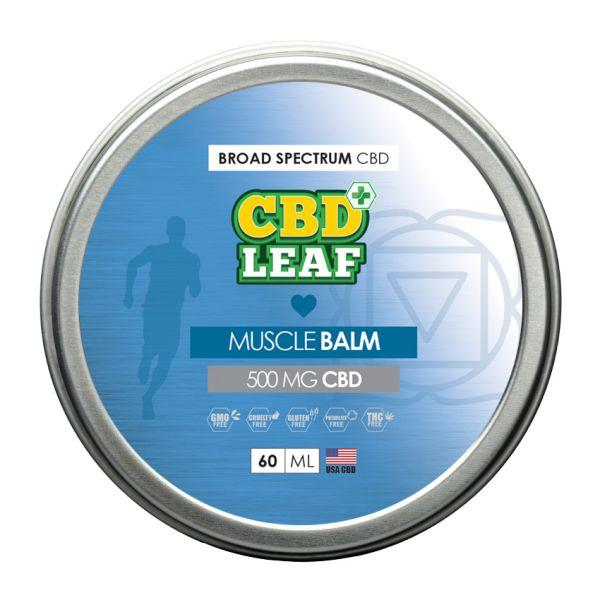 CBD Leaf - Muscle Balm - 500mg - 60ml - Inspired Life CBD