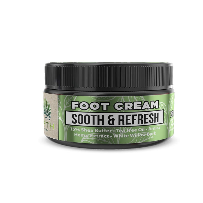 ERTH Sooth & Refresh CBD Foot Cream 250mg - Inspired Life CBD