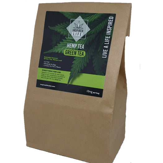 Inspired Life Hemp Tea - 10mg per bag - 15 Tea bags per packet - Inspired Life CBD