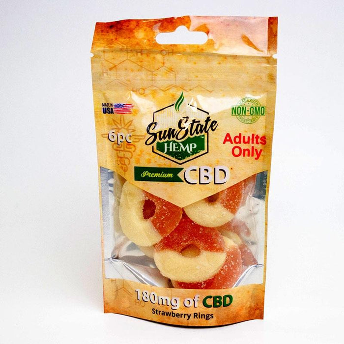 SunState CBD Gummies 180mg (6 Pieces) - Inspired Life CBD