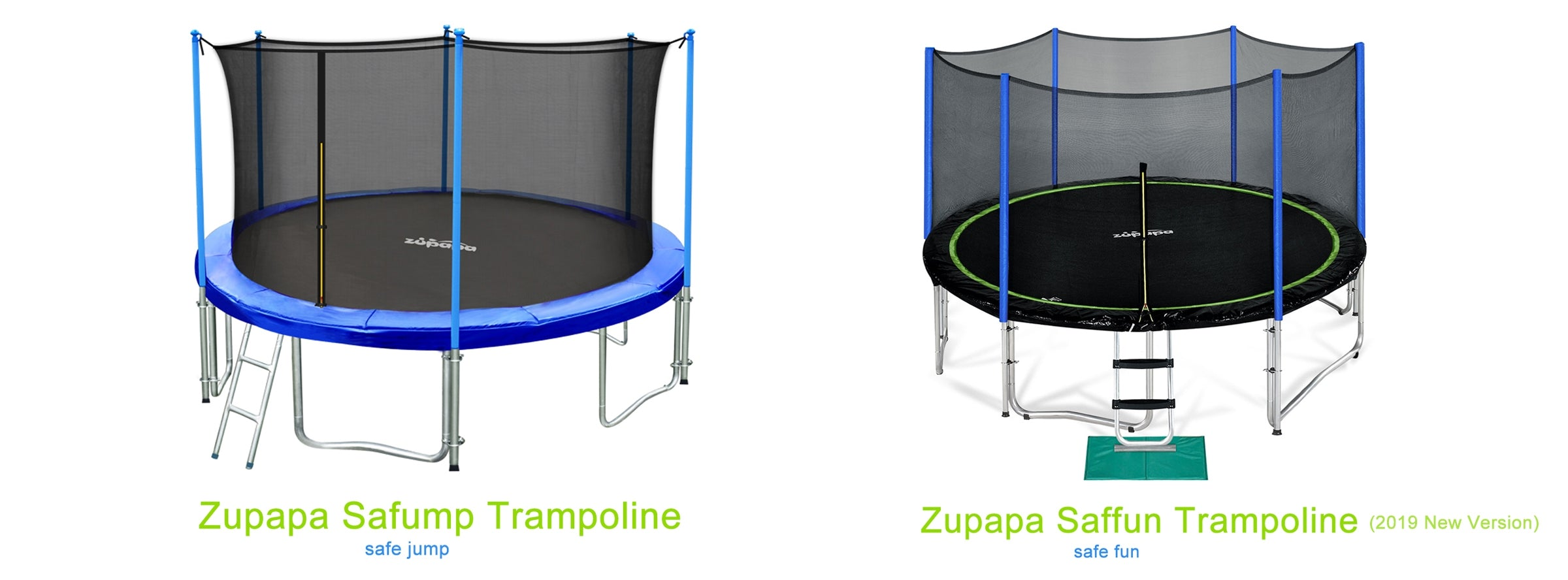 what's the differences between saffun and safump trampoline?