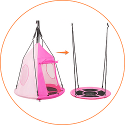 detachable play tent for Zupapa tree swing - pink
