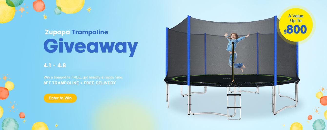 enter to win a Zupapa Newest Trampoline Totally Free for Kids