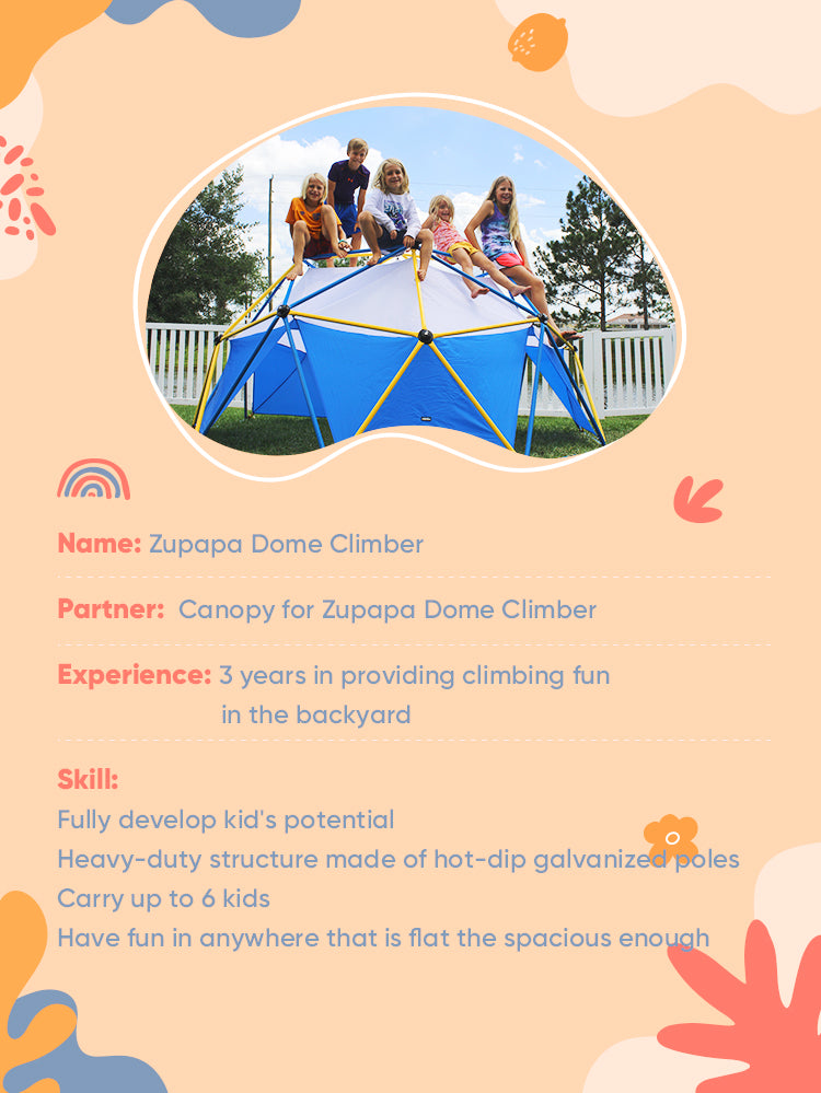 Zupapa dome climber with canopy added