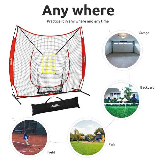 Easy to Carry and Store baseball net