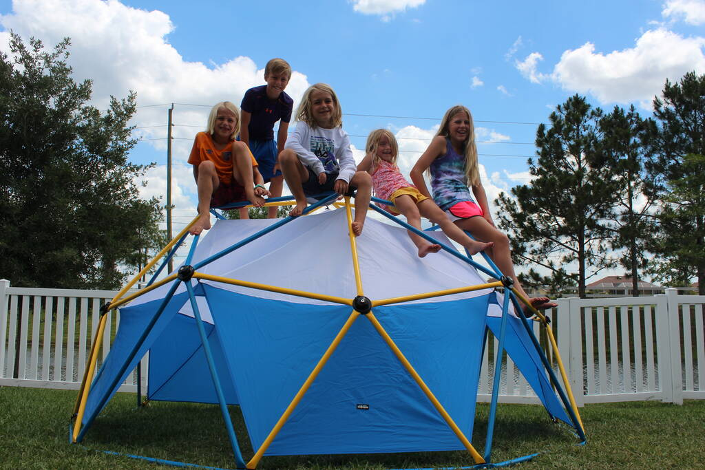 Kids Playing with Zupapa Dome Climber