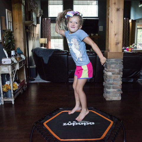 Sweet girl are happy with Zupapa fitness trampoline