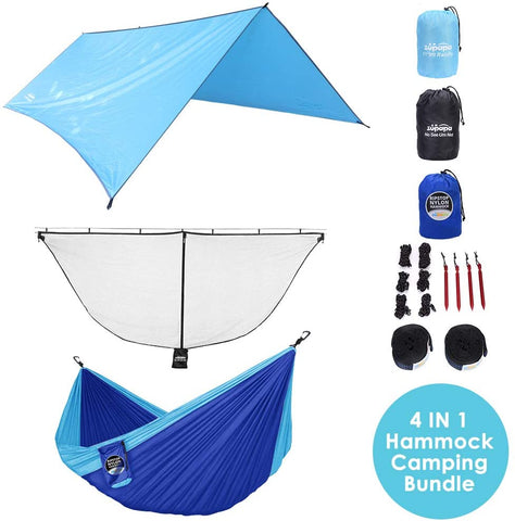 Zupapa Camping Hammock with Mosquito Net and Rainfly