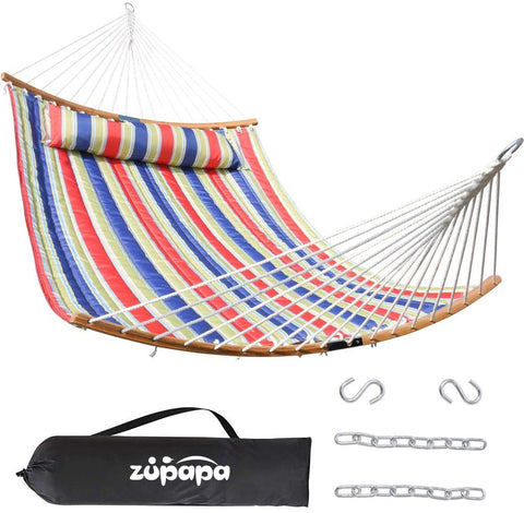 Zupapa Quilted 2 Person Hammock (Blu Red Strips)