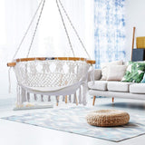 Zupapa Handmade Knitted Hanging Cotton Rope Hammock Chair